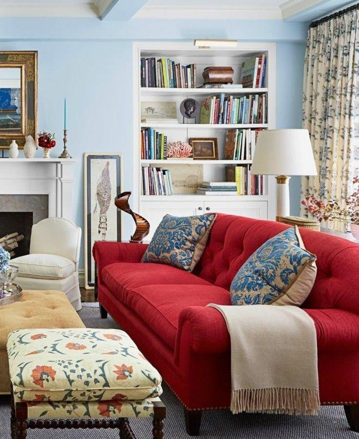 Rotes Sofa 80 Fantastische Modelle Archzine Net Wohnzimmer