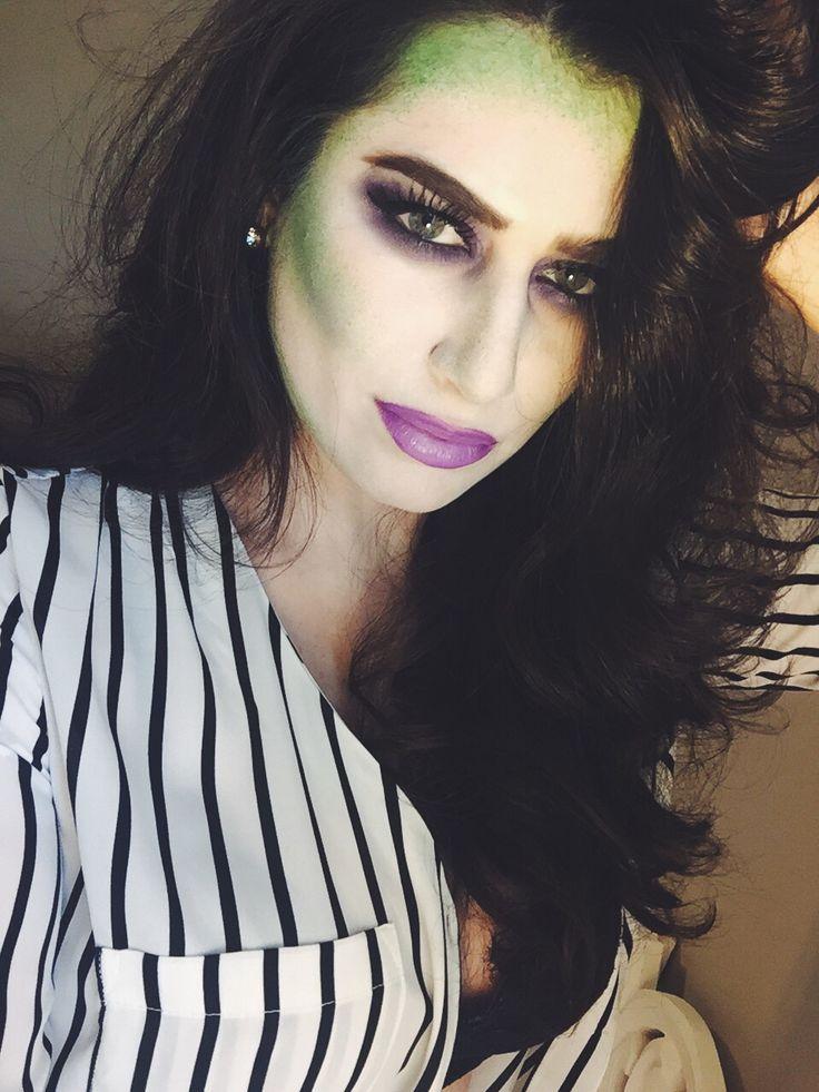 Halloween beetle juice makeup