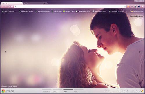 Happy Romantic Couple Google Chrome Theme