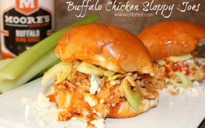 ~Buffalo Chicken Sloppy Joes!