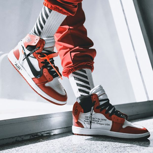 "The OFF-WHITE Air Jordan 1 is coming to retailers in the near future for $350 USD. Here's an on-feet preview featuring a classic ""Chicago"" colorway:"