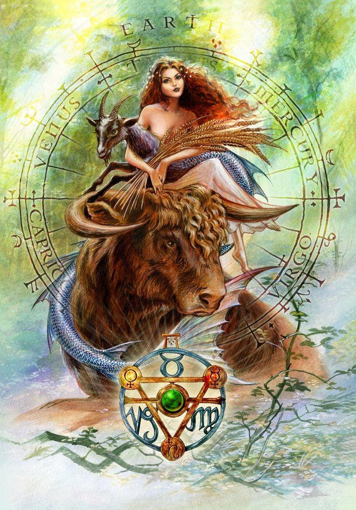 Elemental Earth Talisman and Card Gift Set - Venus Mercury Saturn Planetary Sigils - Taurus Virgo Capricorn Pendant