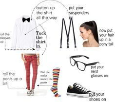 """""""cute nerd costume"""" by awesome-guy on Polyvore"""