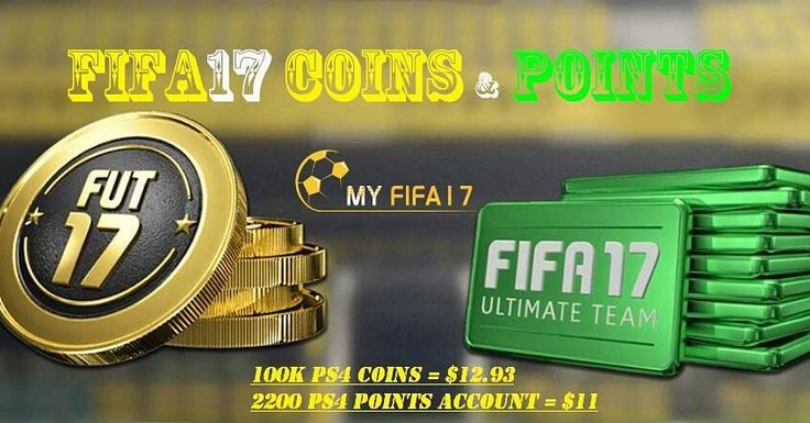 Cheapest price for #Fifa17 #PS4 #Coins & #Points #Account  100k Coins = $12.93 2200 Points Account = $11