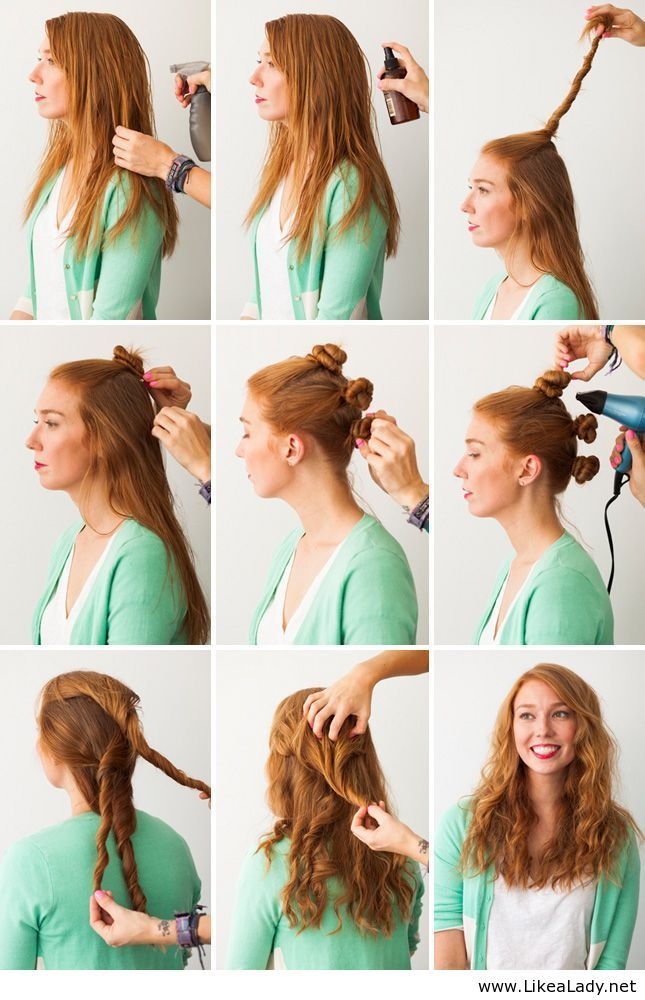 I've been doing these for a few years now.  They're actually called bantu knot outs. #hair #popular #beauty