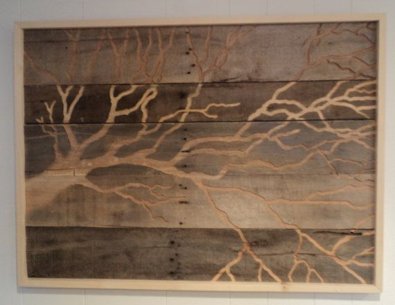 Rustic Tree Wall Decor : Rustic pallet wood tree wall art indoor outdoor recycled