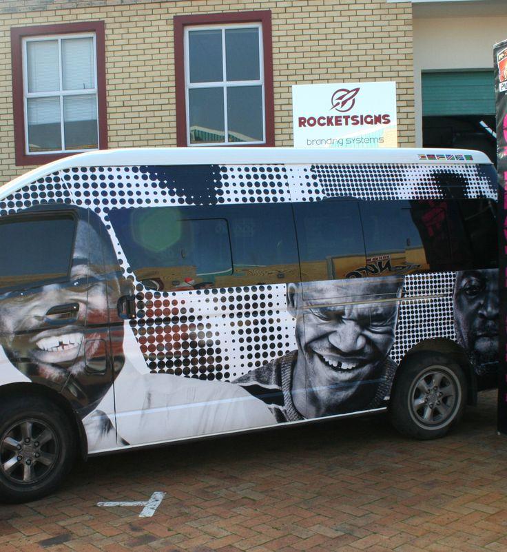 digitally printed Taxi wrap www.rocketsigns.co.za