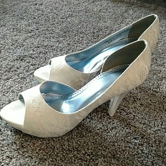 25+ Cute White Lace Heels Ideas On Pinterest