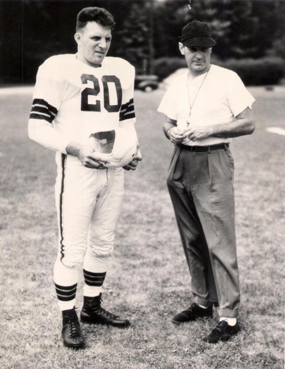 Lou Saban & Coach Paul Brown