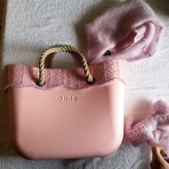 DIY _winter Obag _ warm pink wool ♡