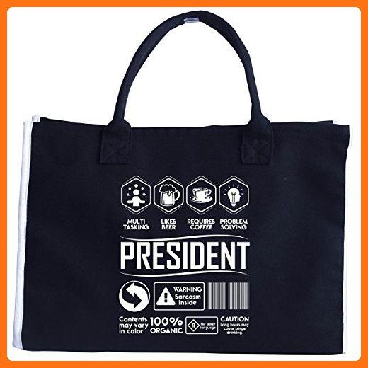 Multitasking Likes Beer Coffee President Birthday Gift - Tote Bag - Top handle bags (*Amazon Partner-Link)