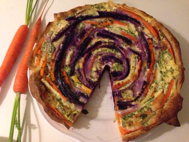 Bunte Möhren-Mozzarella Quiche