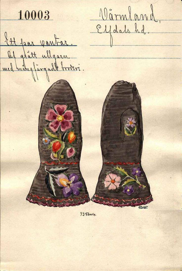 Akvareller av gammal värmländsk design. Nordiska museet