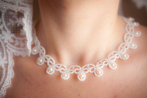 » «Girl's Dream»: the scheme Ankars (tatting). Wedding necklaces, earrings. » Дарина Никонова. Украшения из бисера