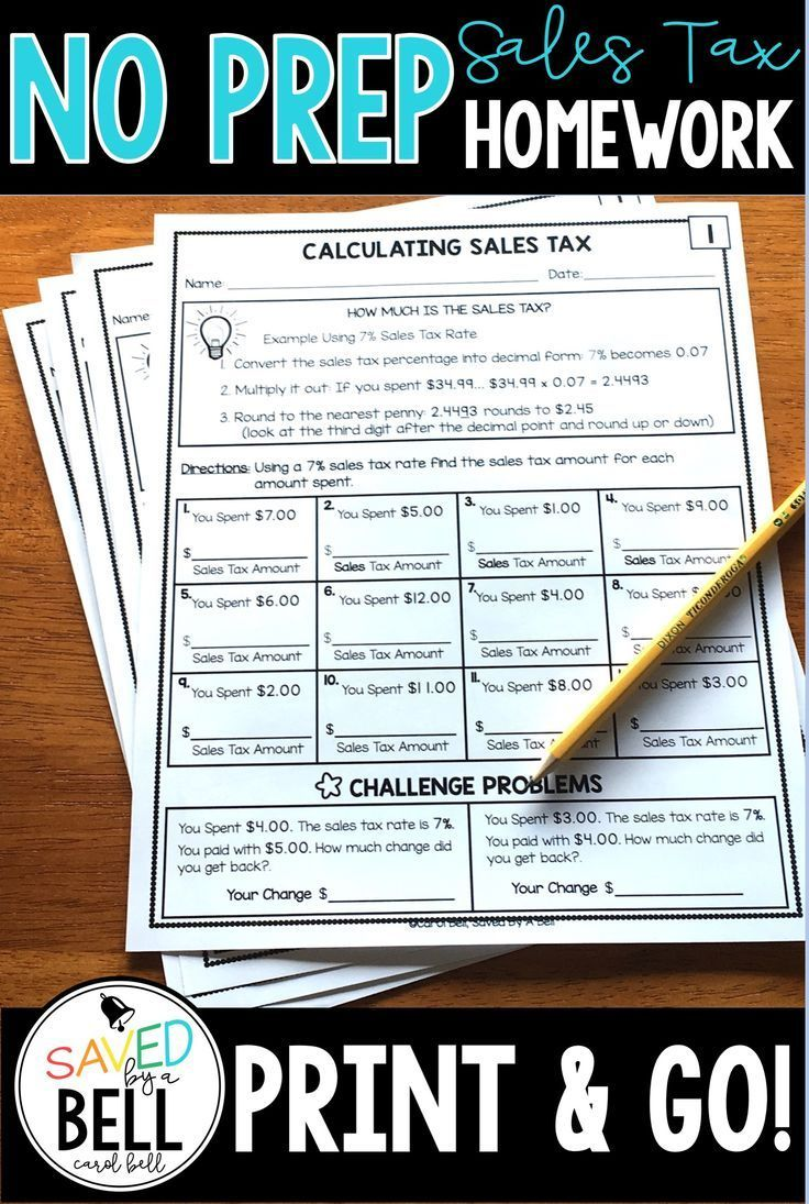 small resolution of Sales Tax Worksheets Distance Learning   Skills practice