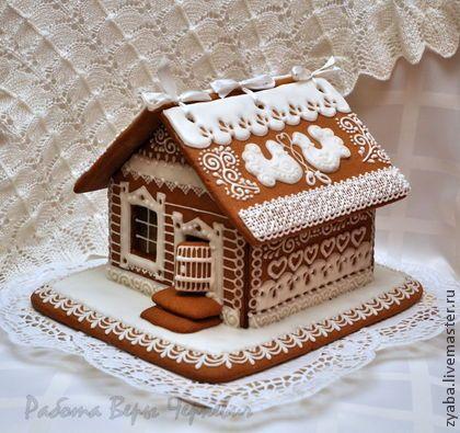 Подарки на свадьбу ручной работы. Ярмарка Мастеров - ручная работа Большой свадебный пряничный домик с сердечками-пожеланиями. Handmade.