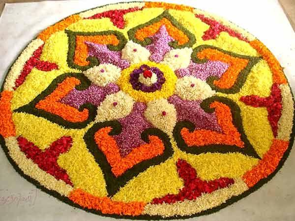 *{Flower Rangoli}*