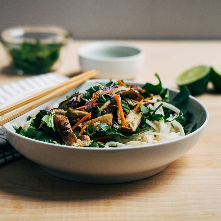 Rice Noodle Salad with Spring Vegetables and Tahini-Lime Dressing Recipe on Food52 recipe on Food52