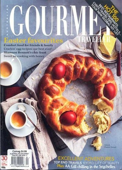 Australian Gourmet Traveller Magazine, April 2011 (searchable index of recipes)