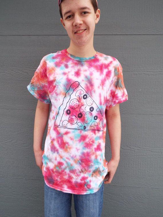 Custom Pizza Shirt, Custom Tie Dye Shirt for the Pizza Lover, Pizza T-shirt, College Gift, graduatio
