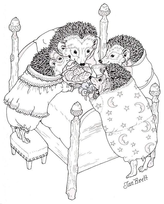 jan brett free coloring pages - photo#10