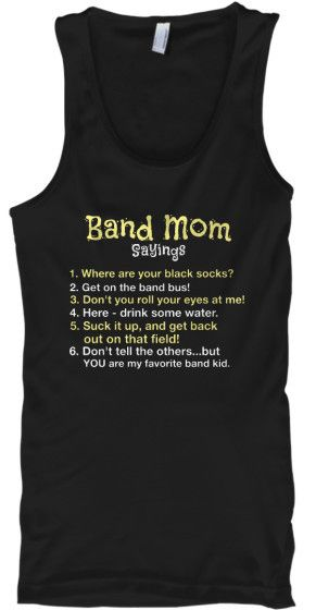 Band Mom Sayings - Tank Top