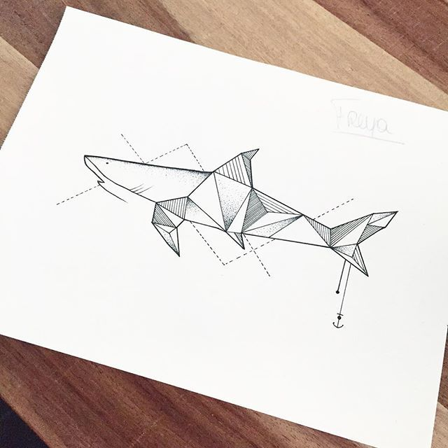 Cute sharkie for Freya. #shark #illustrator #illustration #design #sketch #drawing #draw #geometry #linework #dotwork #anchor #minimal #animal #art #artwork #artist #artistic #instaart #kunst #madeinbelgium #handgemaakt #tattoo #tattoodesign #evasvartur #blackwork #blackworkers #instafollow