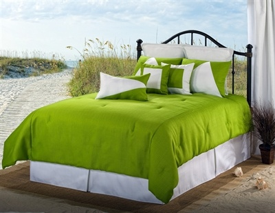 Bright Green Bedding Set   For Your Beach Home, Made In America. Http:
