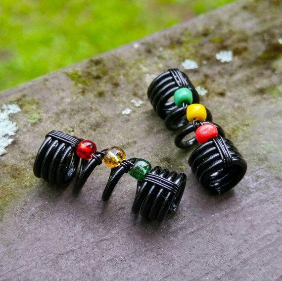 Rasta Dread Bead One Simple Bead Dreadlock by HeatherfishCreations