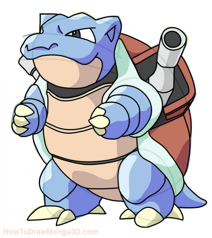 how to draw mega blastoise z