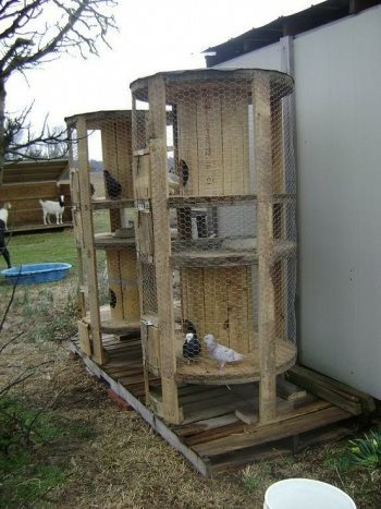 Great way to recycle old cable spools!