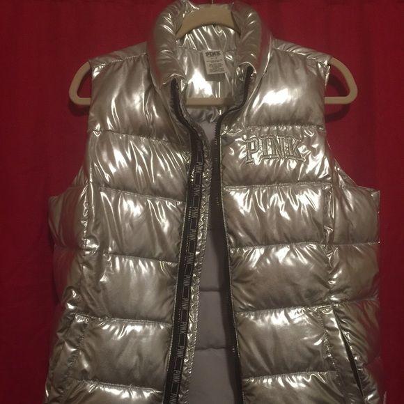 Victoria's Secret Metallic Vest VS silver metallic vest. Size M. New without tags. Victoria's Secret Jackets & Coats Vests