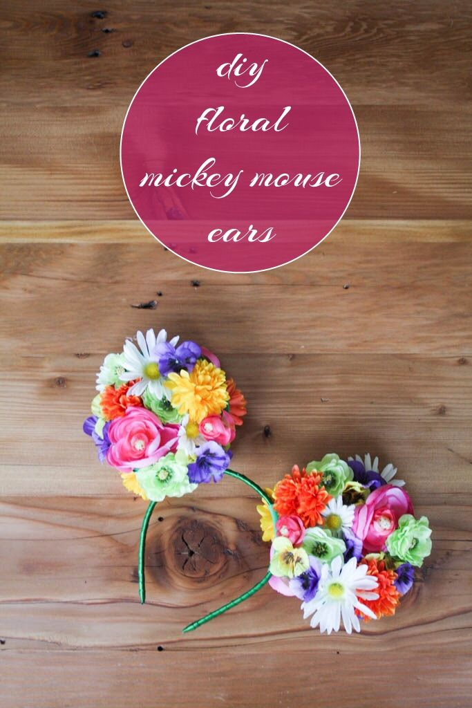 DIY Floral Mickey Ears