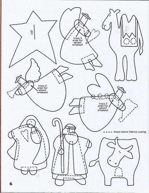 : Feltro Natale, Felt Patterns, Christmas Appliqué, Felts, Native Patterns, Christmas Ornaments, Christmas Applique, Felt Native, Native Sets