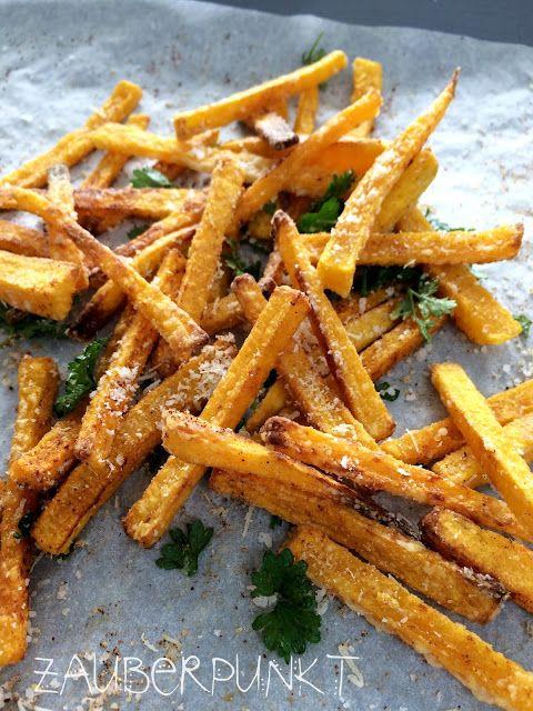 Kürbis Pommes frites im Ofen gebacken