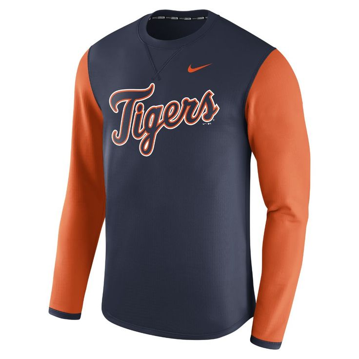 Nike Thermal Crew (MLB Tigers) Men's Long Sleeve Shirt Size