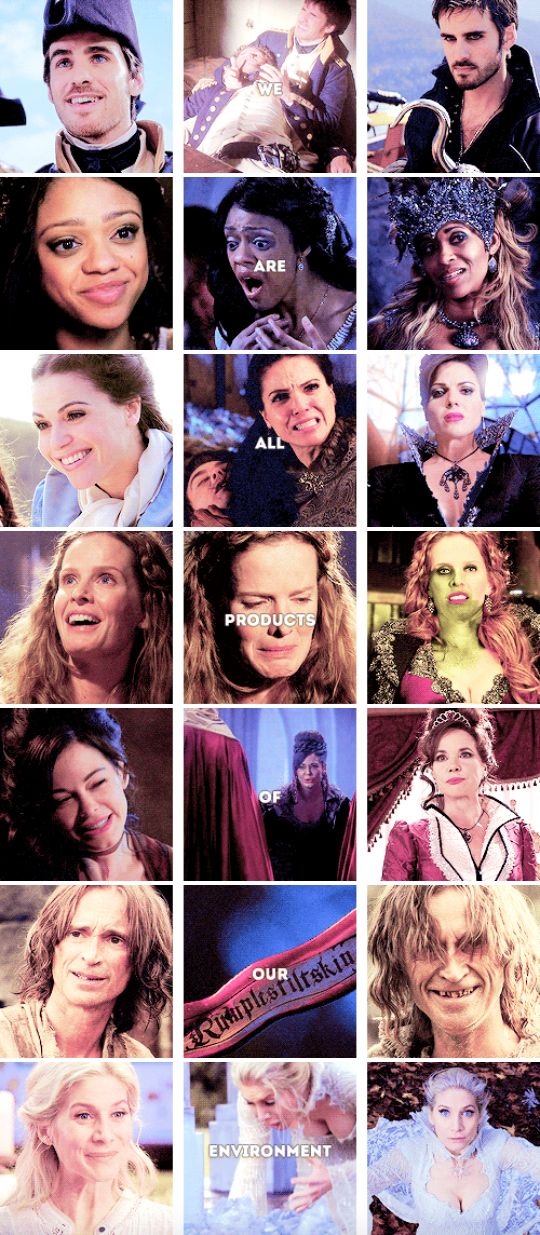 We were not always like this. We are all p r o d u c t s of our environment. #ouat