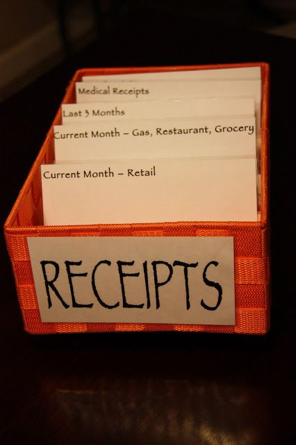 The Lovebugs Blog: Receipt Organization