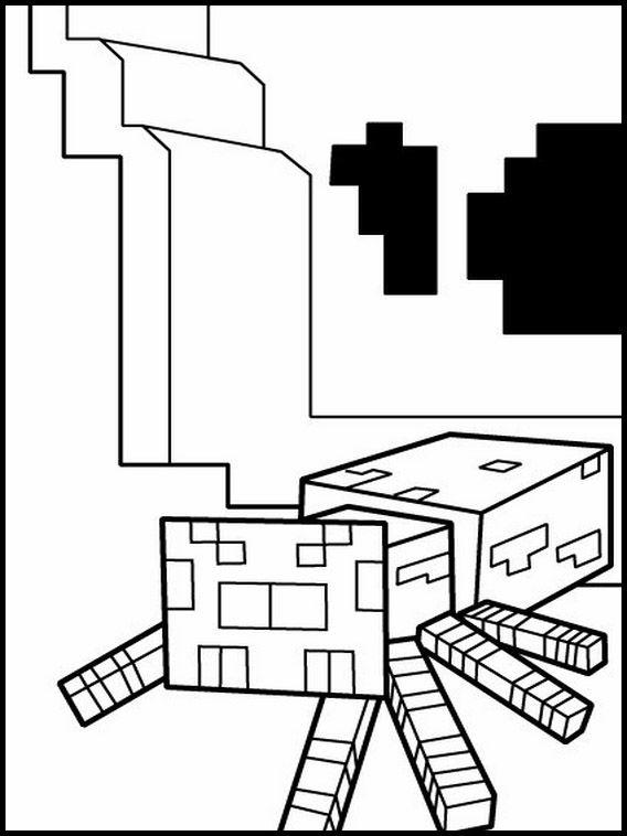 Malarbilder Teckningar For Barn Att Skriva Ut Minecraft 2 Teckning For Barn Minecraft For Barn