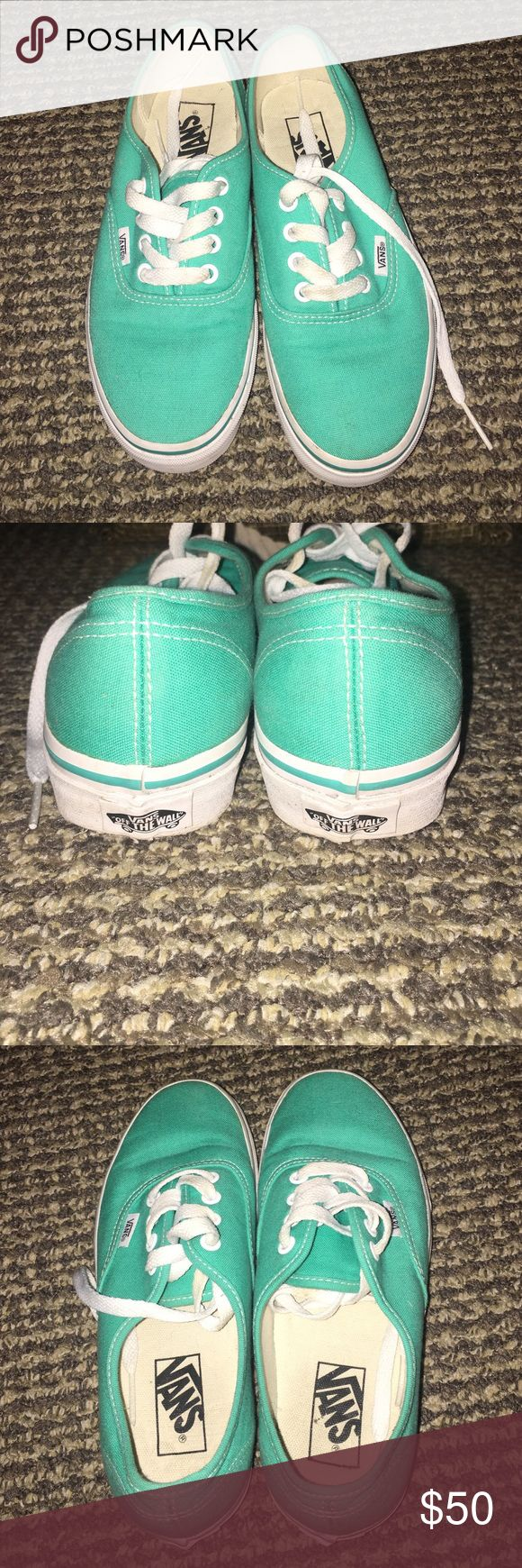 Teal Vans Almost Perfect condition. Very rarely worn. Vans Shoes Sneakers