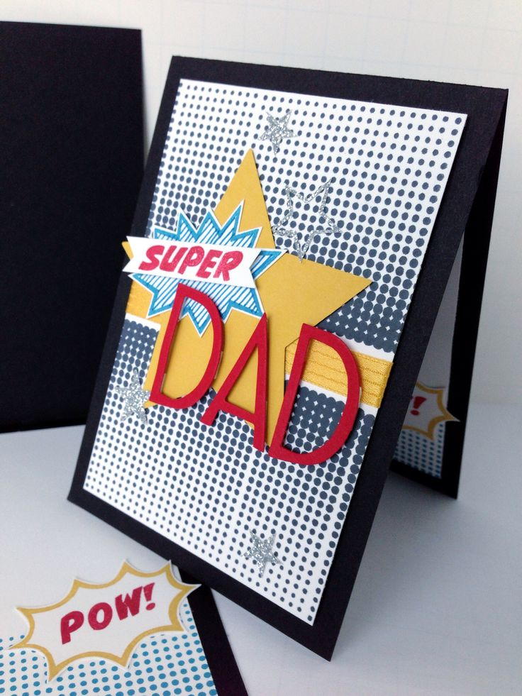 Stampin' Up! Masculine: The Calling All Heroes stamp set is perfect for a Father's Day card! #stampinup Card by Melody Hyde