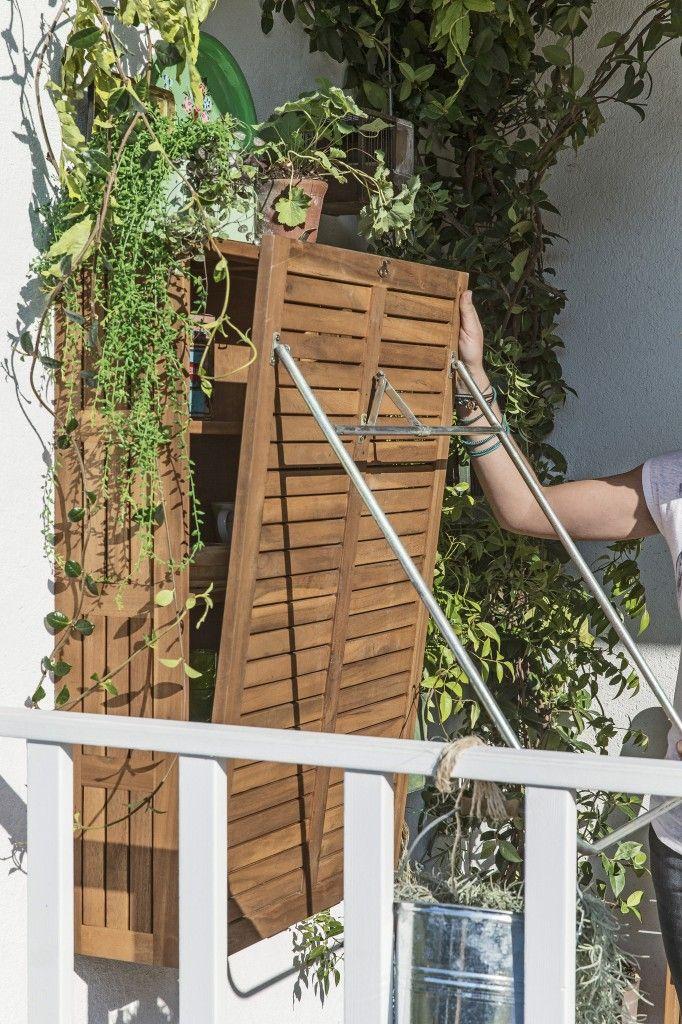 Catalogue Leroy Merlin : Aménager une petite terrasse sans l'encombrer