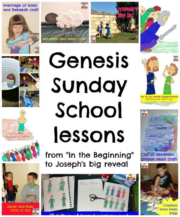 Check out this 13 week Genesis Sunday School lessons. Everything you'd need to teach the book of Genesis.