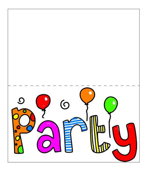 Printable Party Invitation  #Free #Printable #party #Invitation