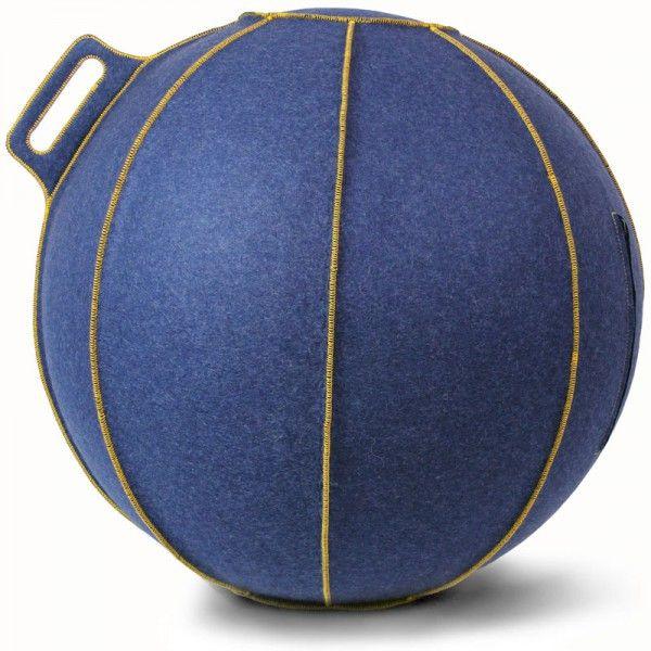 Stilvoller Sitzball Velt blau