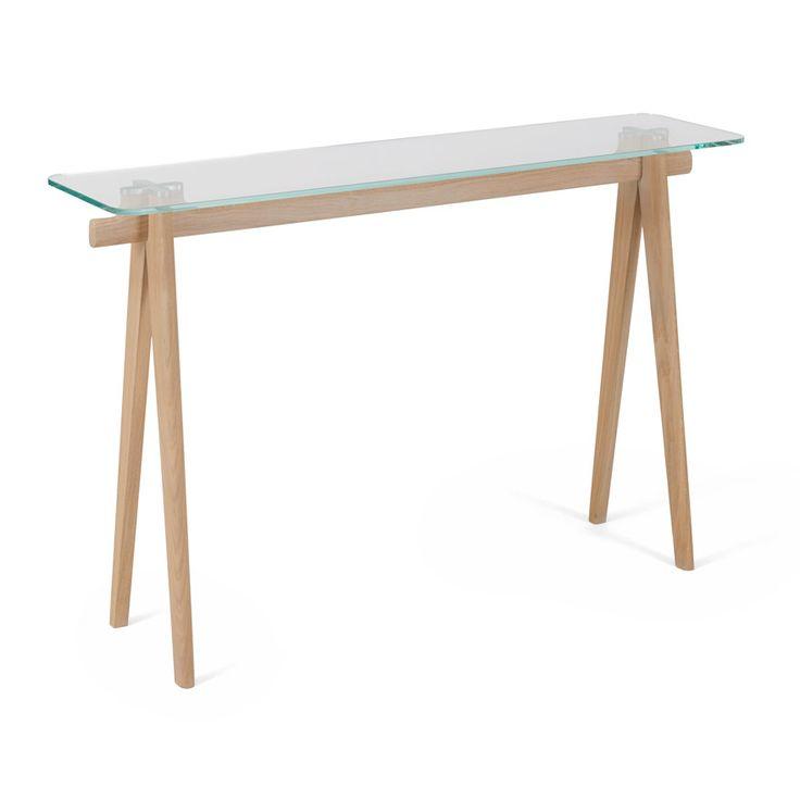 2513 V ALASKA    Une #console en #verre et #bois. Une légèreté qui sera très agréable. #design by Didier Versavel #designer #home #house #deco #styliste #myart #gallery910
