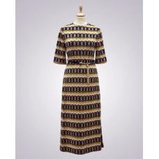 Vintage from Paris Balmainklänning med guldbrokad