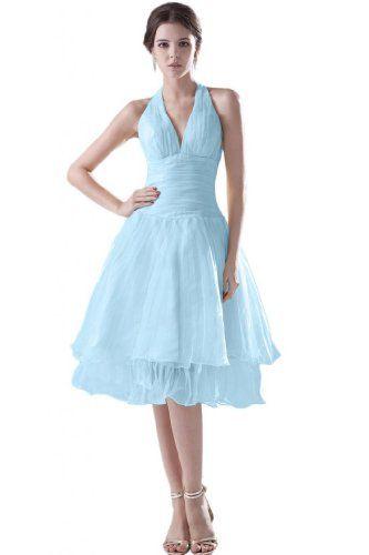 Sunvary Einfach Neckholder Abendkleider Brautjungfernkleider Kurz Organza Ballkleider Partykleider-32-Hell Himmel Blau Sunvary http://www.amazon.de/dp/B00JWGA8WS/ref=cm_sw_r_pi_dp_1Edfvb0J2153Y