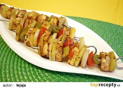 Zeleninové ražniči s tofu recept - TopRecepty.cz