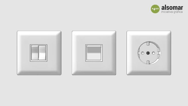 Plug and light switches - 3D Warehouse (http://bit.ly/1z9EQDM) #3d #sketchup #freebies